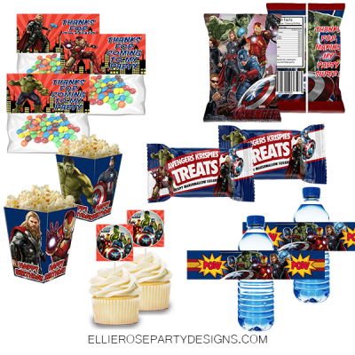 AVENGERS SUPERHERO PARTY PRINTABLE PACK PACKAGE WOO