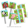 BARNYARD FARM ANIMAL LOLLIPOP FAVOR GOODIE PRINTABLES SHOPWOO
