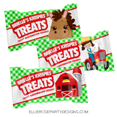 FARM BARNYARD RICE KRISPIE TREATS BARN THEMED WOO