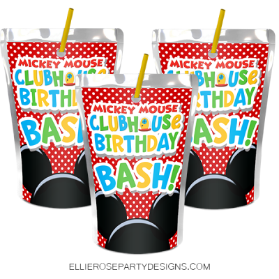 MICKEY MOUSE CAPRI SUN LABEL PRINTABLES WOO