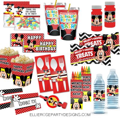 MICKEY MOUSE CLUBHOUSE BIRTHDAY PARTY PRINTABLE PACKAGE DISCOUNT woo