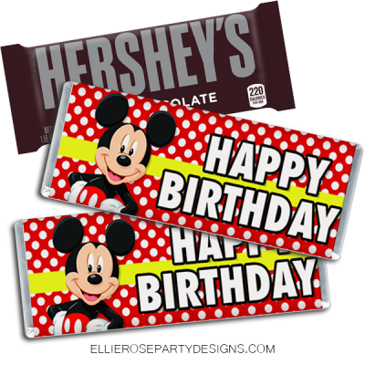 MICKEY MOUSE CLUBHOUSE HERSHEY BAR WRAPPER PRINTABLES 2 WOO