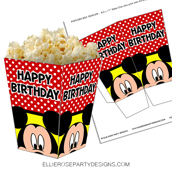 MICKEY MOUSE POPCORN BOX WOO 2