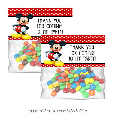 MICKEY MOUSE TREAT BAG TOPPER WOO