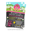 PINK FARM FARMHOUSE BARNYARD PARTY INVITATION WOO