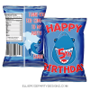 SHARK UNDER THE SEA CHIP BAG PARTY FAVOR BAGS WOO