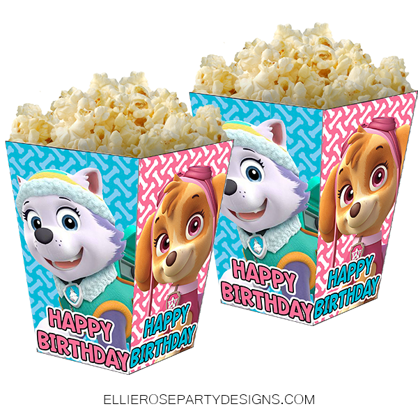 SKYE AND EVEREST POPCORN BOX PRINTABLE WOO