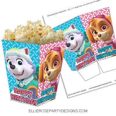 SKYE AND EVEREST POPCORN BOX PRINTABLE WOO2