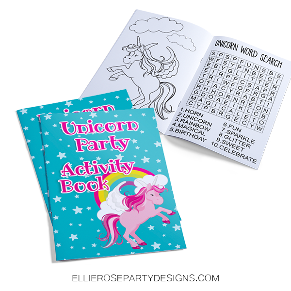 UNICORN ACTIVITY BOOK COLORING BOOK PRINTABLE EBOOK woo