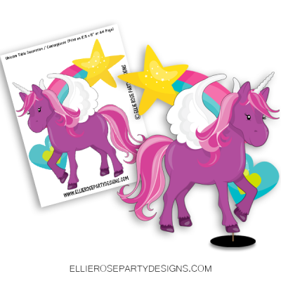 UNICORN CENTERPIECE TABLE DECORATION PARTY IDEA WOO 2