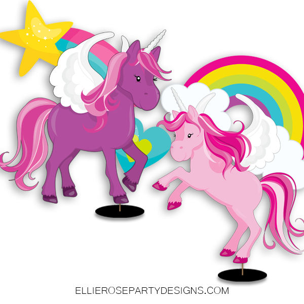UNICORN CENTERPIECE TABLE DECORATION PARTY IDEA WOO 3