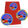 HOT WHEEL 3 INCH FAVOR STICKER LOLLIPOP SWIRL STICKERS