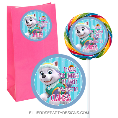 SKYE AND EVEREST LOLLIPOP FAVOR STICKER SWIRL POP