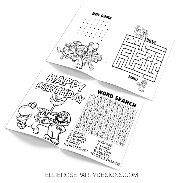 SUPER MARIO ACTIVITY BOOK WORKSHEET WORKBOOK PAGES 1 UPDATE