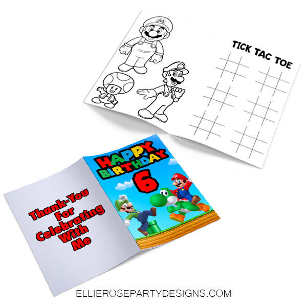 SUPER MARIO ACTIVITY BOOK WORKSHEET WORKBOOK PAGES 2
