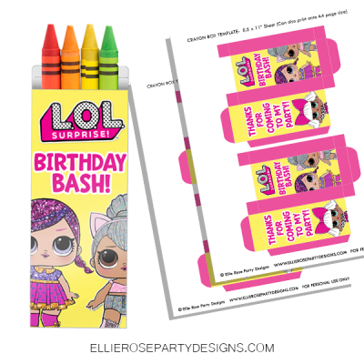 LOL CRAYON BOX PARTY FAVOR PRINTABLES
