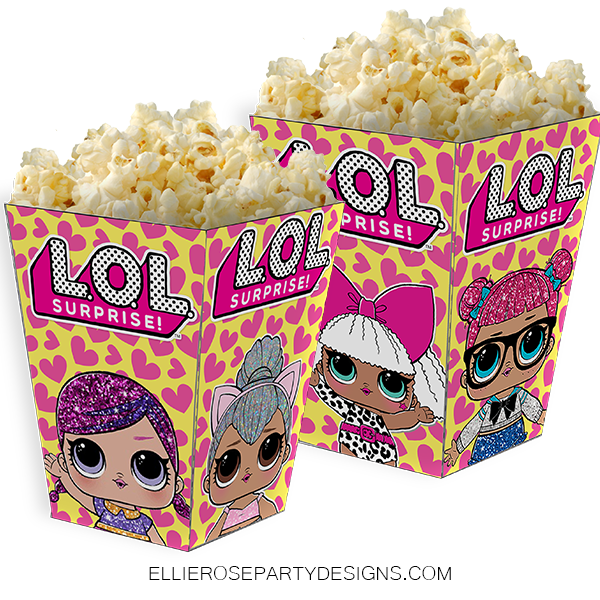 LOL SURPRISE DOLL POPCORN BOXES