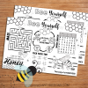 BEE EDUCATIONAL UNITY STUDY ACTIVITY PLACEMAT CARD